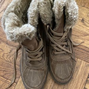 BUSSOLA SNOW DISRESSED Boots TAUPE-Greenish 38